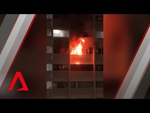 Fire breaks out at Hougang flat in Singapore