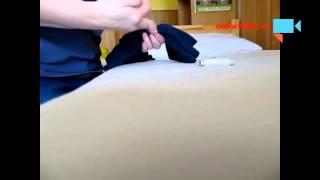 Můj trik-gumičkování triček pro zachování šířky :-)