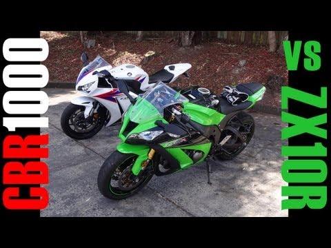 Kawasaki ZX10R vs Honda CBR1000RR - Test Ride - Motovlog