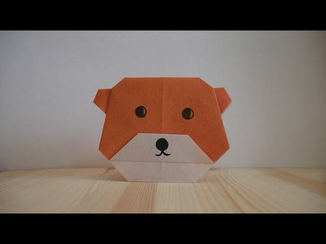 Оригами. Как сделать медведя из бумаги (видео урок)
