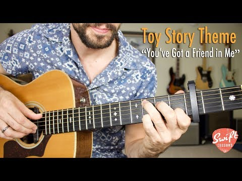 You Ve Got A Friend In Me Guitar Tutorial Toy Story Theme Randy
