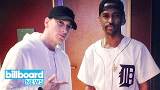 Eminem Calls President Trump a 'Bitch' on Big Sean's 'No Favors' | Billboard News
