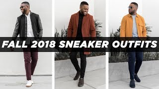 SMART CASUAL LOOKBOOK FALL 2018 | Sneaker Outfits Ideas | Mens Fashion Inspiration