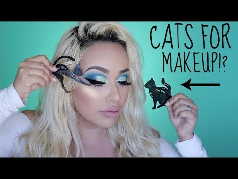 USE CATS FOR MAKEUP!? GET THE PERFECT LINER & CUT CREASE