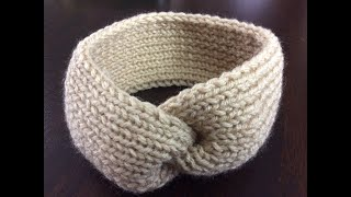 Knitted headband. Great project for beginner. Complete tutorial.