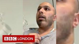 Doctor demonstrates breathing technique for coronavirus patients