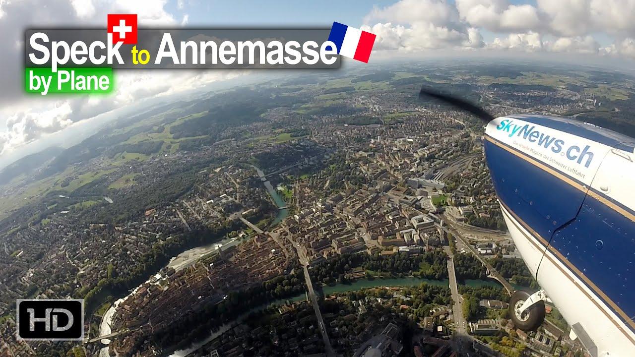 Flying across Switzerland to Annemasse France