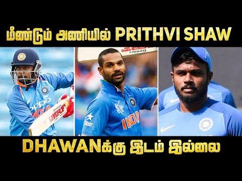 India Vs New Zealand ODI And T20 Squad Full List |..
