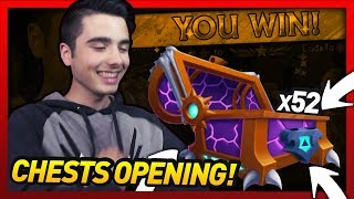 Knights and Dragons - 52 Shadowflame Bulwark Chests Opening!! Season 13 Shadowforged Chest!