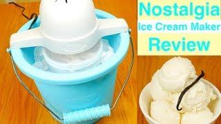 Nostalgia 4-Quart Electric Ice Cream Maker Review
