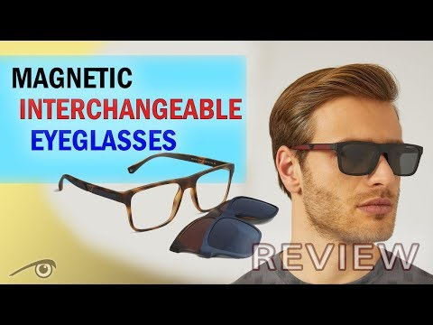 Armani eyeglasses with magnetic sunglasses