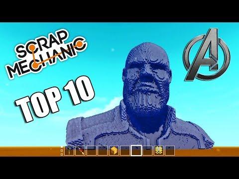 TOP 10 Avengers Šíleností v Scrap Mechanic - Nakashi [CZ]