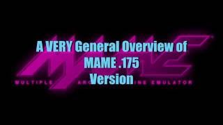 General How To Work Mame (.175 on Windows 7 64 Bit)