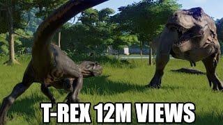 T-Rex(Modified) VS All Carnivores - Jurassic World Evolution