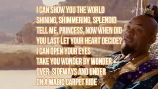 Shazing-Alladdin-A Whole New World-Lyrics-notfull