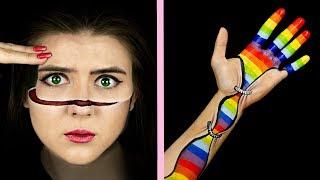 8 Astonishing Optical Illusions / Hand Art Makeup