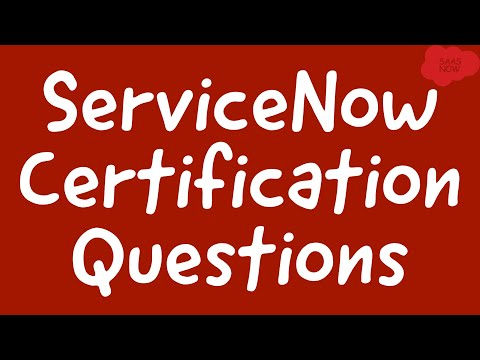 #3 ServiceNow Admin Certification Questions | Interview and ...