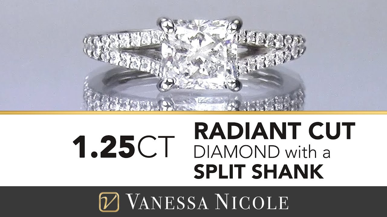 1.25ct Radiant Cut Diamond Ring