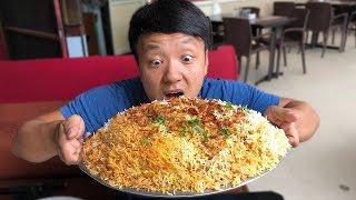 MASSIVE BIRYANI (Spicy Rice) & Insane Chicken Kebab in Hyderabad India - Video Youtube