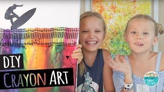 How To Make DIY Melted Crayon Art  |  Back To School | Wall Art For Kids
