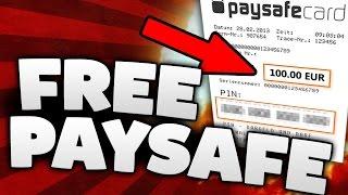 [2017] FREE PAYSAFECARD CODES - PAYSAFECARD VERDIENEN!