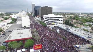 Armenian Genocide March for Justice Aerial Video