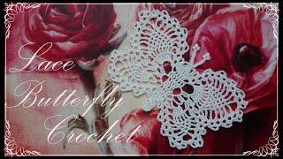 Crochet Butterfly Lace Doily
