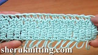 Learn How To Crochet Hairpin Lace  Урок 26 Как вязать на вилке