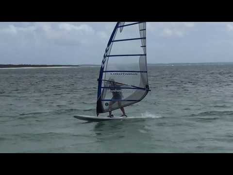 Day 1 Windsurf Foiling With a Bolt-on Axis Sup Foil