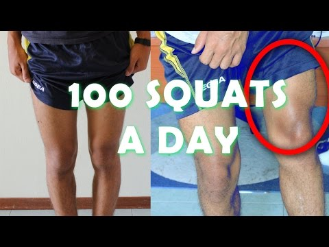 100 squat for 30 days challenge my body trasformation result