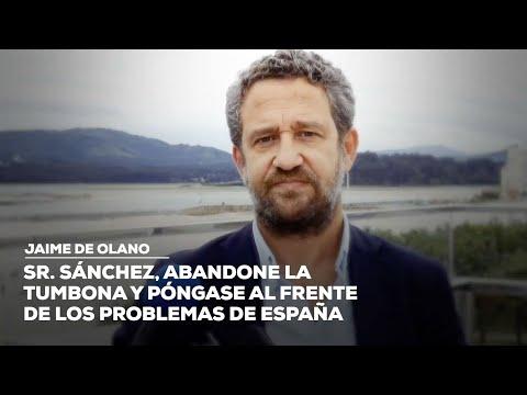 """De Olano: """"Sr. Sánchez, abandone la tumbona y póngase al frente de los problemas de España"""