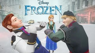 ANNA, KRISTOFF vs HANS (FROZEN) - EPIC BATTLE - FROZEN SHORT MOVIE