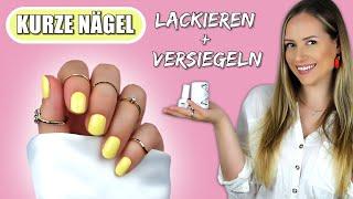Kurze Nägel mit UV-Lack LACKIEREN und VERSIEGELN   Nails »Lalalunia«