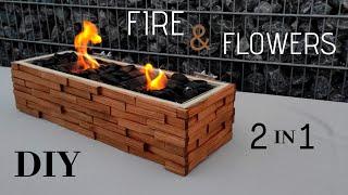 Feuerstelle selber bauen/ Balkon Feuerschale/ Fire PIT/ Blumenbeet/ DIY Feuerschale