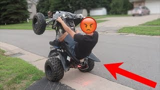 ILLEGAL DRIFT QUAD ROAD WHEELIES!!! + I
