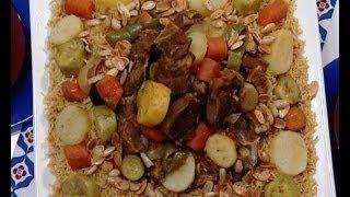 كبسة اللحم بالخضروات - منال العالم