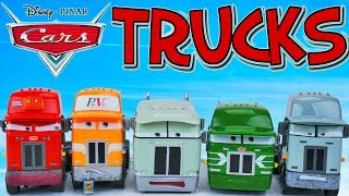 DISNEY CARS TRUCK HAULERS SLEEPY PISTON CUP TRUCKS RADIATOR SPRINGS CLASSIC TOYS MACK PETERBILT