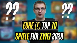 EURE beliebtesten besten Top 10 Spiele für 2 Personen 2020 - Das Ergebnis der Community Befragung
