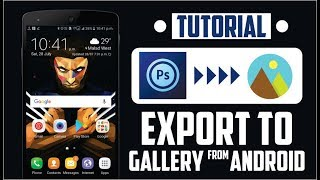 How To Export Images From PS TOUCH To Gallery | Save Images In Gallery |PS TOUCH
