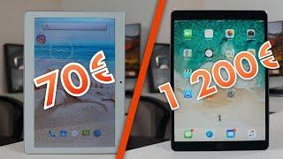 Tablette (70€) VS iPad (1200€)