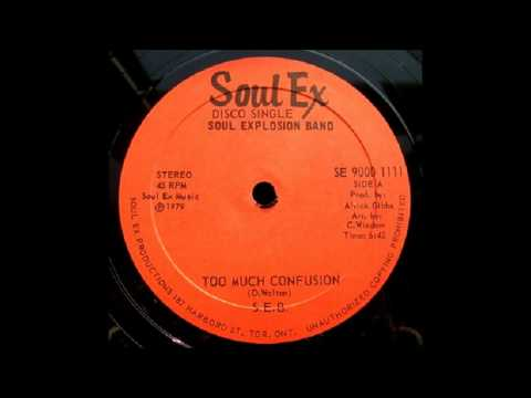"""12"""" Soul Explosion Band – Too Much Confusion (& dub)"""