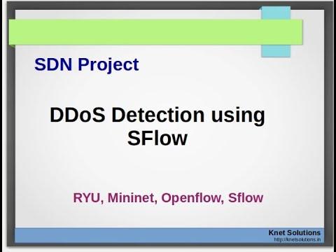 DDoS Detection using SFlow