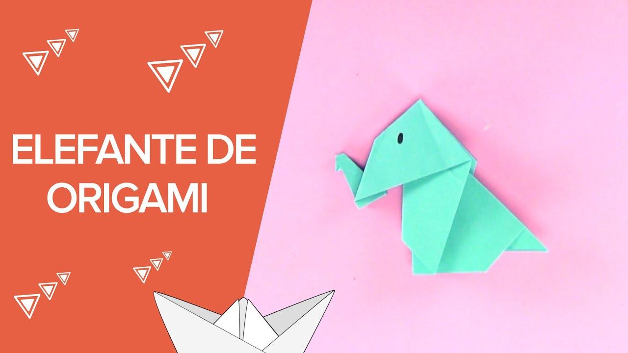 Cómo hacer un elefante de origami paso a paso | Papiroflexia para niños
