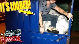 JOANN FABRIC DUMPSTER AT 3AM! YOU WON'T BELIEVE WHAT'S INSIDE!