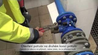 Vyhledávání úniků vody na PVC potrubí pomocí tzv. formovacího plynu a technologie H2 WALDI