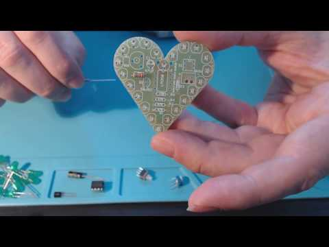 EQKIT® Heart Shaped Light Kit DIY LED Flash Breathing Light from Banggood.com