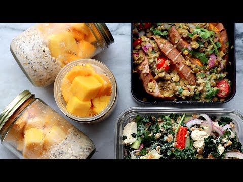 Video Easy Summer Vegan Meal Prep - Fresh & Healthy Recipes ????