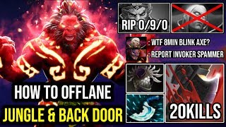 How to Easy Backdoor + Jungle Axe | WTF 8Min Blink Deleted MK & Lvl 25 Invoker Spammer 20Kills DotA2