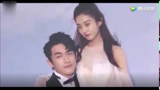 赵丽颖和林更新拍杂志就跟拍婚纱照似的,颖宝的这身衣服超美!