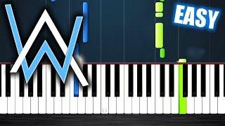 Alan Walker - All Falls Down - EASY Piano Tutorial by PlutaX